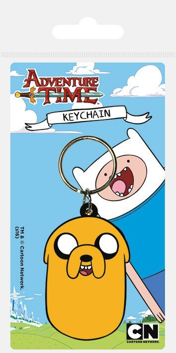 Adventure Time Jake Rubber Keychain