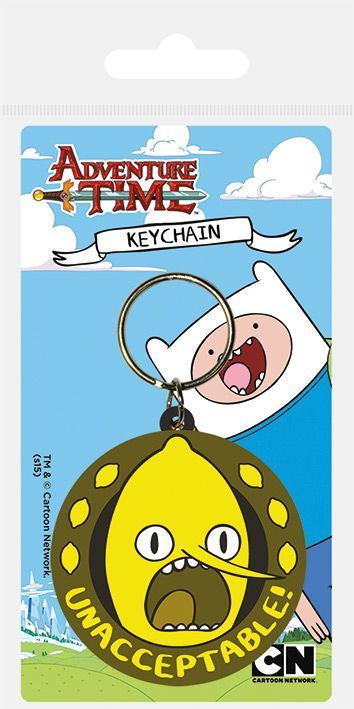 Adventure Time Lemongrab Unacceptable Rubber Keychain