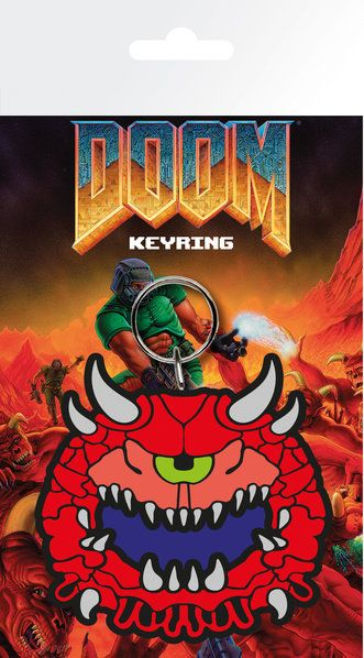 Doom Retro Cacodemon Rubber Keychain