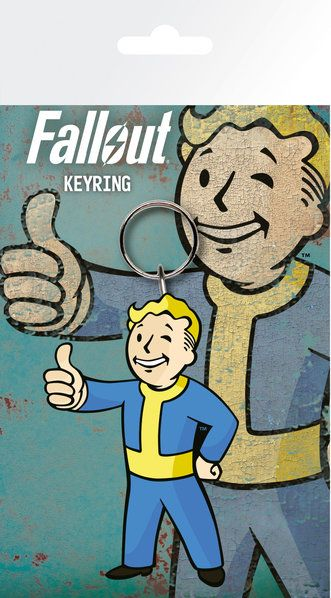 Fallout Vault Boy Rubber Keychain