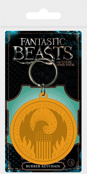 Fantastic Beasts Macusa Logo Rubber Keychain | Buy now at The G33Kery - UK Stock - Fast Delivery