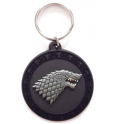 Game of Thrones House of Stark Rubber Keychain