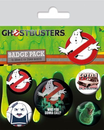 Ghostbusters 3 Five Badge Pack