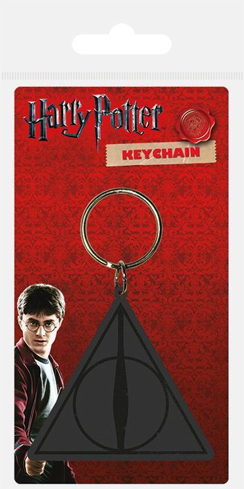 Harry Potter Deathly Hallows Rubber Keychain