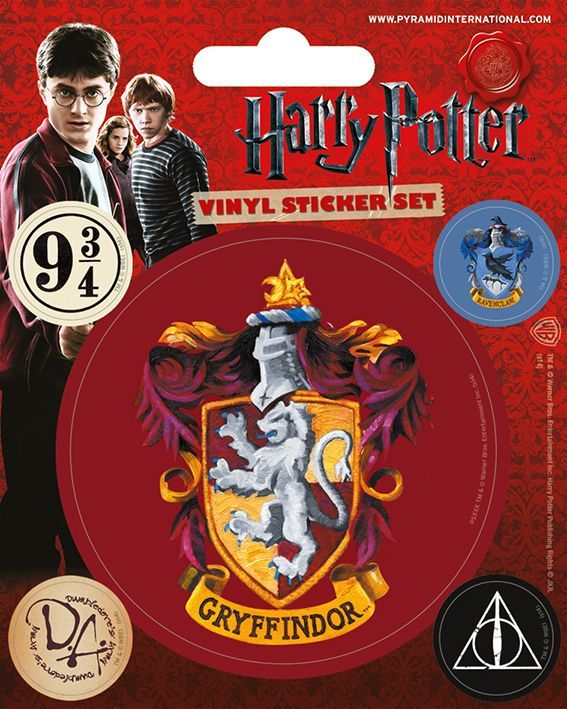 Harry Potter Gryffindor Vinyl Stickers | Buy now at The G33Kery - UK Stock - Fast Delivery