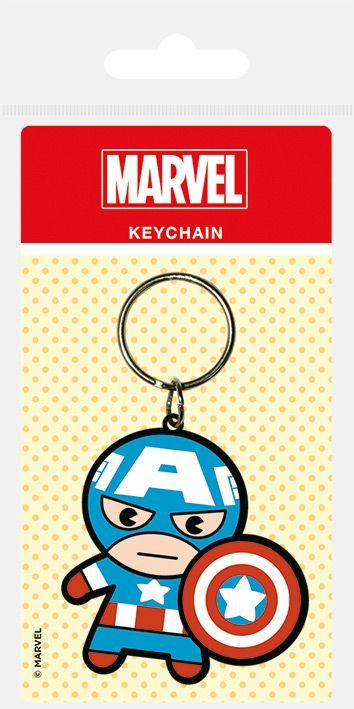 Marvel Kawaii Captain America Rubber Keychain