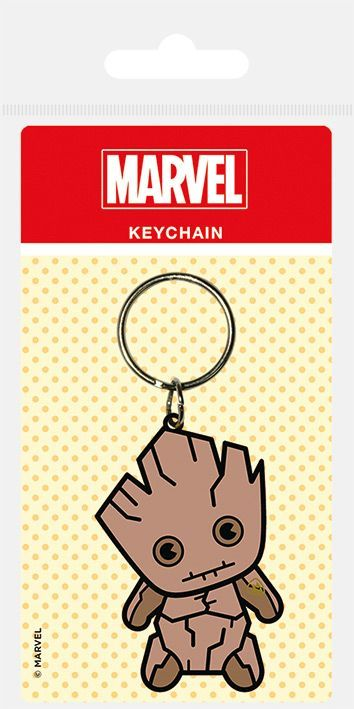 Marvel Kawaii Groot Rubber Keychain