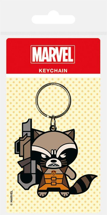Marvel Kawaii Rocket Raccoon Rubber Keychain