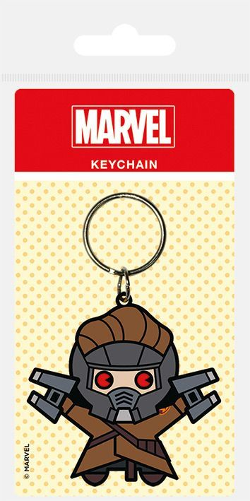 Marvel Kawaii Star Lord Rubber Keychain