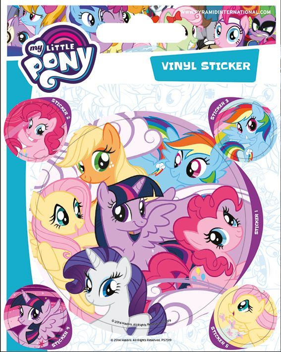 My Little Pony Vinyl Stickers | Buy now at The G33Kery - UK Stock - Fast Delivery