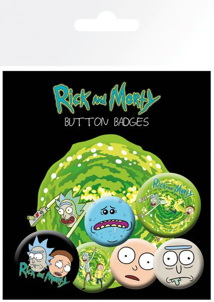Rick and Morty Badge Pack
