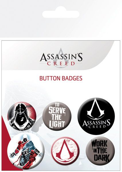 Assassins Creed Badge Pack | Buy now at The G33Kery - UK Stock - Fast Delivery