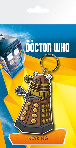 Doctor Who Dalek Rubber Keychain