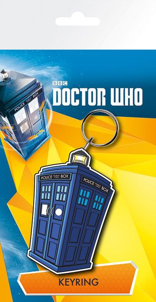 Doctor Who Tardis Rubber Keychain