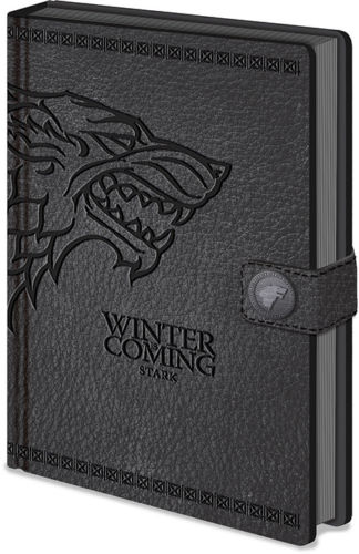 Game of Thrones Stark A5 Leather Look Notebook