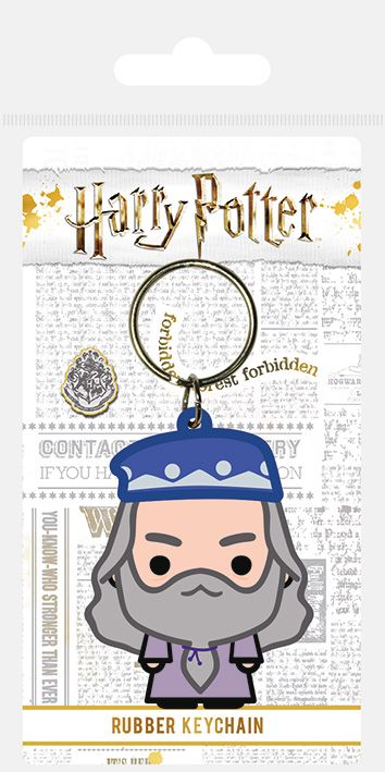 Harry Potter Dumbledore Chibi Rubber Keychain