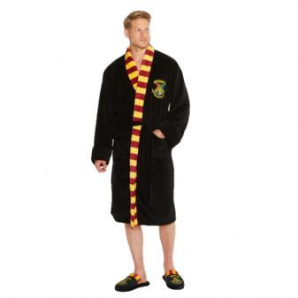 Harry Potter Hogwarts Adult Fleece Bathrobe