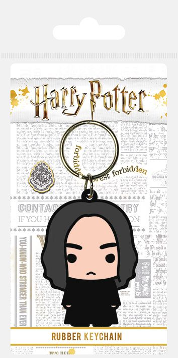 Harry Potter Professor Snape Chibi Rubber Keychain