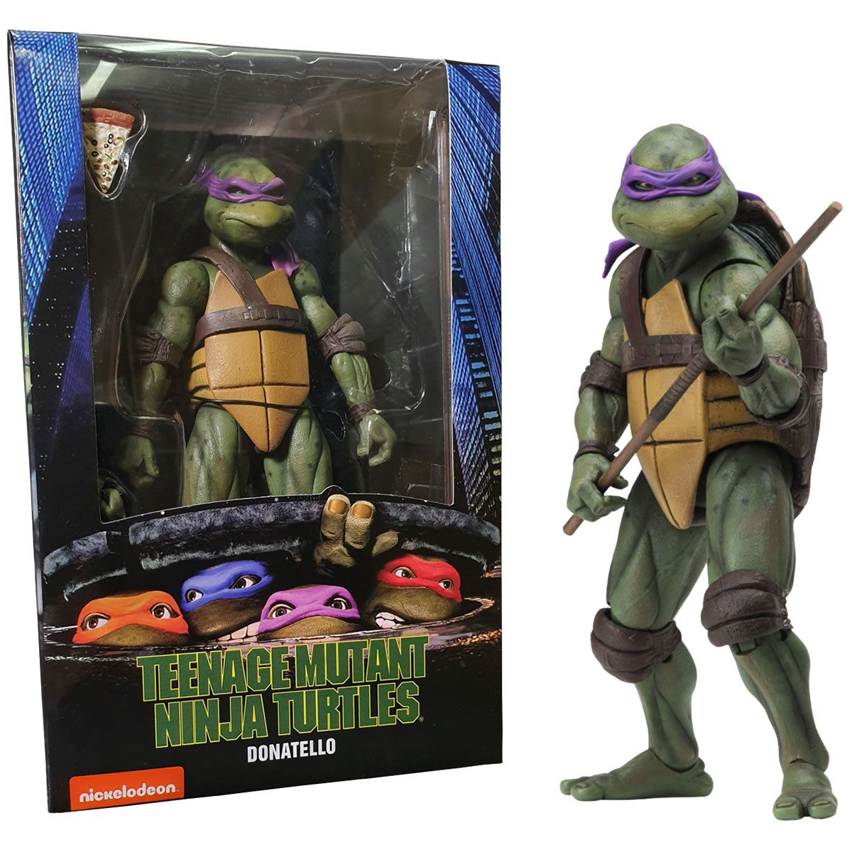 "NECA Teenage Mutant Ninja Turtles 1990 Movie 7/"" Action Figure Official Leonardo"
