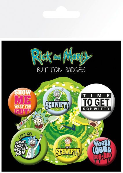 Rick and Morty Quotes Badge Pack