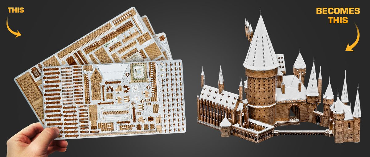 Build your own Hogwarts Castle from 4 laser cut steel sheets.